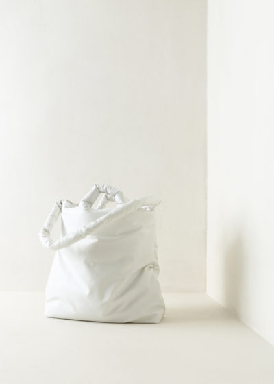 Medium oil-coated Pillow Bag by KASSL editions