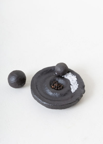 Salt & Pepper mortar and pestle by Knutson & Ballouhey
