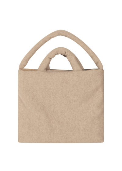 Large wool felted bag (beige) by KASSL editions