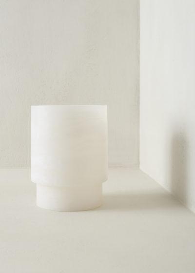 Alabast Tlight holder L by Michaël Verheyden