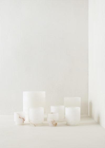 White Alabast tea light XL by Michaël Verheyden
