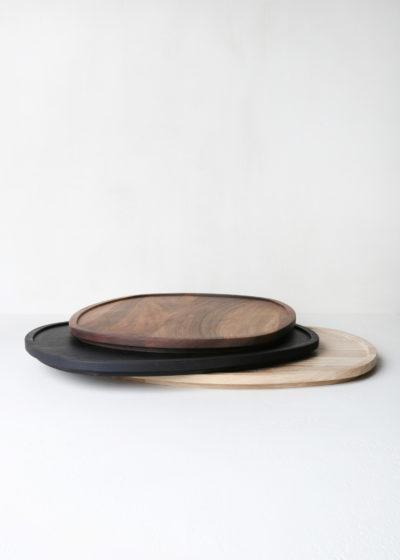 Grand  'Aperitivo' tray ovale (blackened wood) by Michaël Verheyden