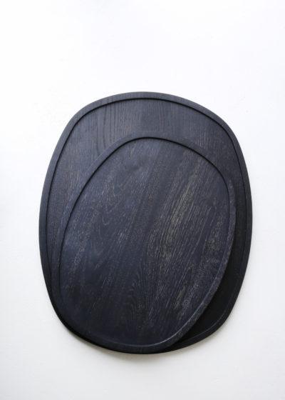 Ovale 'Aperitivo' tray (blackened wood) by Michaël Verheyden