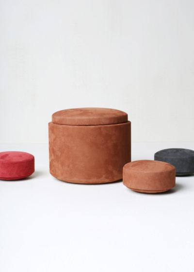 'Pastille' box (velvet terra) by Michaël Verheyden