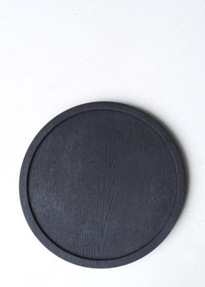 Round 'Aperitivo' S tray (blackened wood) by Michaël Verheyden