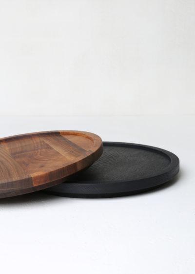 Round 'Aperitivo' S tray (oiled walnut) by Michaël Verheyden