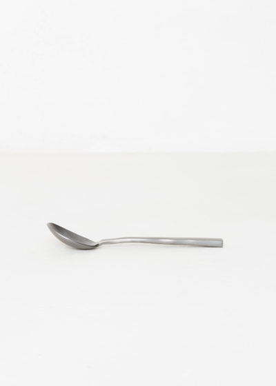 Coffee spoon black brushed by Maarten Baas for valerie_objects