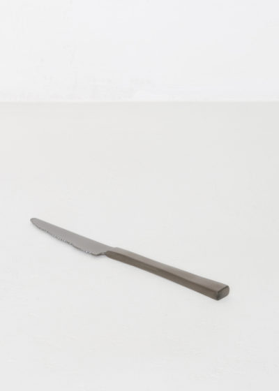 Table knife black brushed by Maarten Baas for valerie_objects