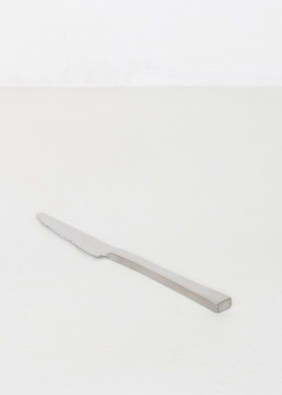 Table knife brushed stainless by Maarten Baas for valerie_objects