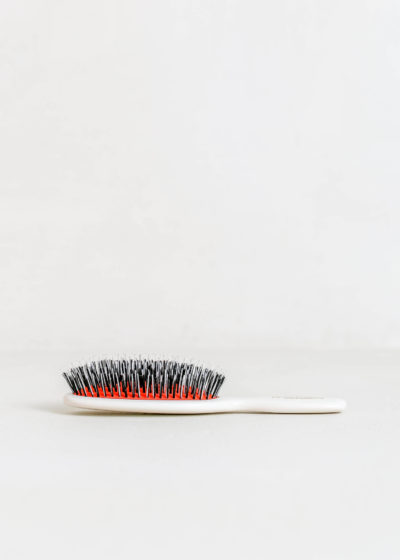Pocket hairbrush (pink and white) by Mason Pearson