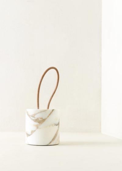 Marble 'Calleporte' doorstop with leather handle by Michaël Verheyden