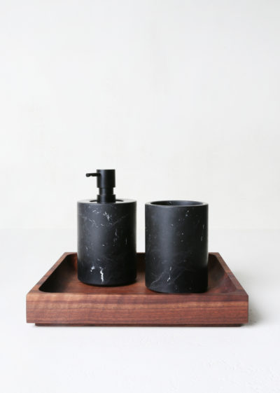 'Hosp' bathroom set (available in marble and travertine) by Michaël Verheyden