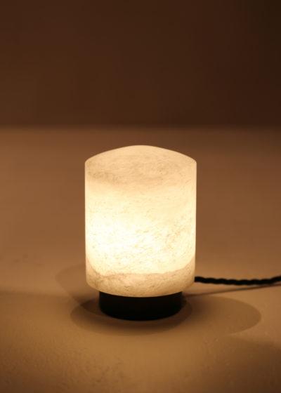 'Coprin' lamp (alabaster, metal) by Michaël Verheyden