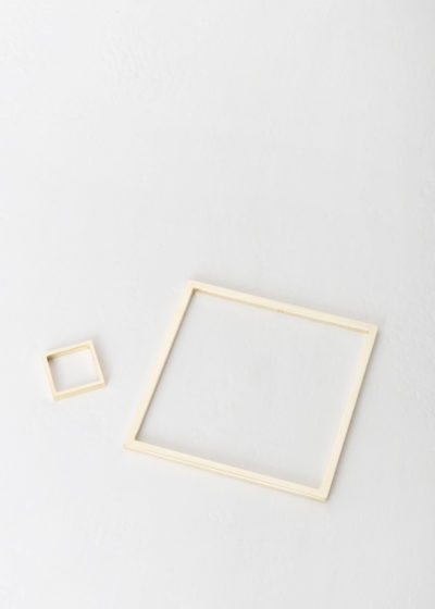 Square bangle by Minimalux