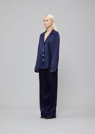 'Louis' silk pyjama trousers by Bernadette