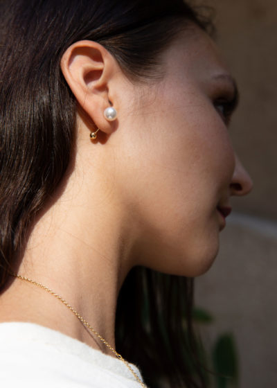 Akoya pearl earring by Sophie Bille Brahe