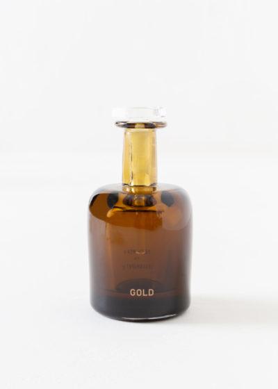Gold hand blown bottle by Perfumer H