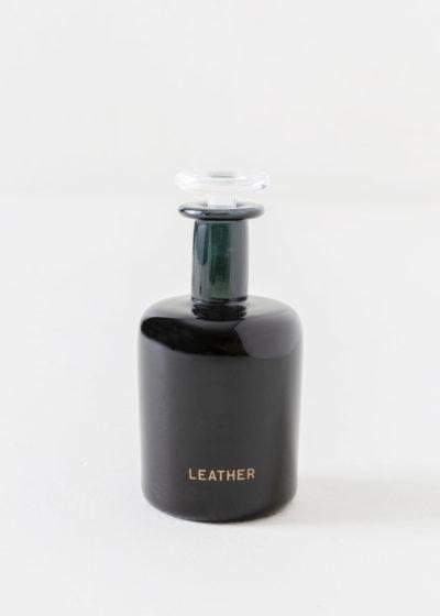 Leather hand blown bottle by Perfumer H