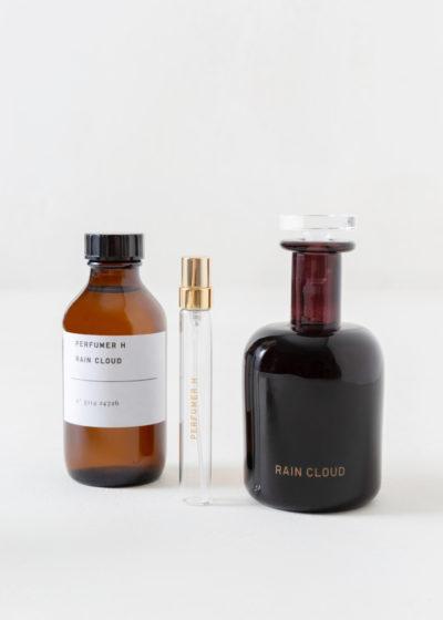 Rain cloud hand blown bottle by Perfumer H