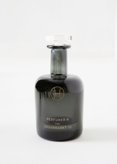 Rainwood hand blown bottle by Perfumer H