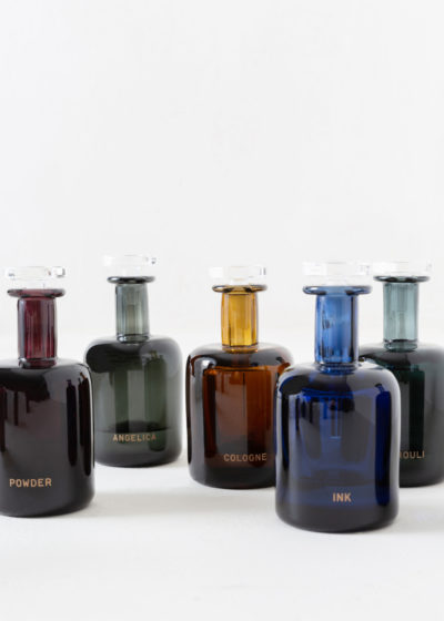 Ink hand blown bottle by Perfumer H