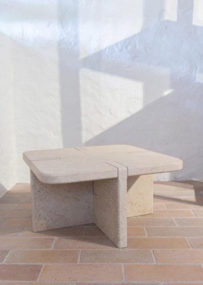 Indoor/outdoor coffee table by Atelier Pierre Culot
