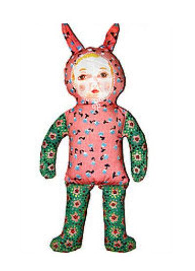 'Pink bunny' doll by Nathalie Lété x Design Farm Productions