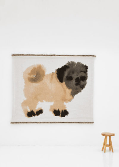 Bench player 'Pug' Wall Hanging by Wild Animals