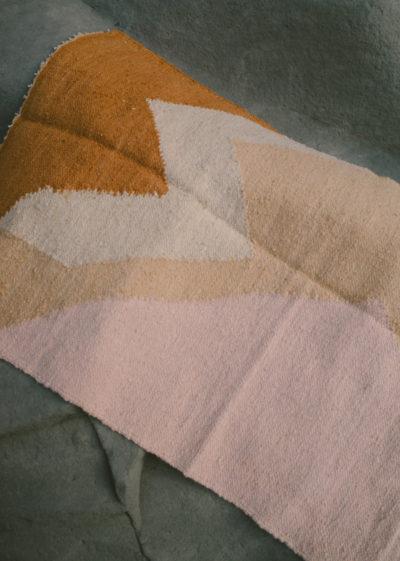 Small 'Moon blush' rug by Que Onda Vos