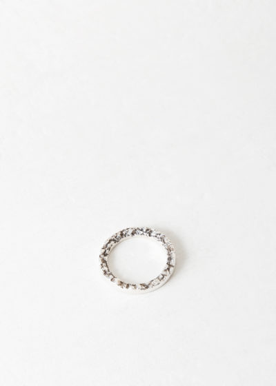 Raw edge silver ring by Espèces