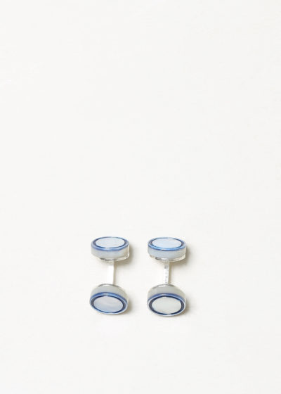 Day circle cufflinks by Samuel Gassmann