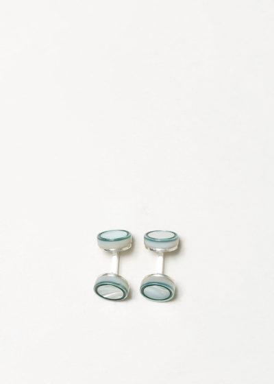 Day circle cufflinks by Samuel Gassmann