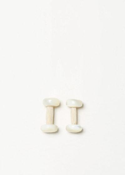 White horsehair cufflinks by Samuel Gassmann
