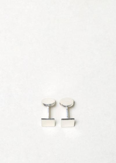 Day square cufflinks by Samuel Gassmann