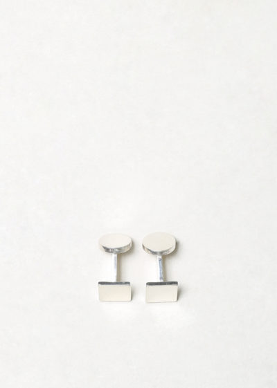 Day square cufflinks by Samuel Gassmann