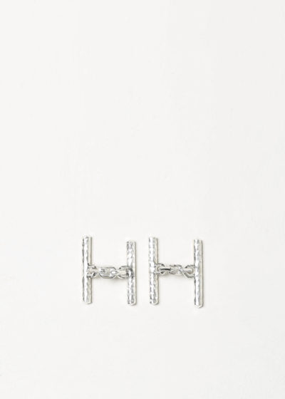 Irrational cufflinks with chains by Samuel Gassmann