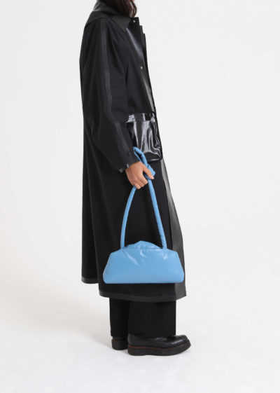 Oil slim bag (available in black and blue) by KASSL editions