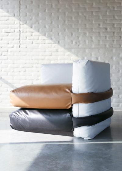 The Pillow Sofa (1-seater corner) by KASSL Editions X Muller Van Severen