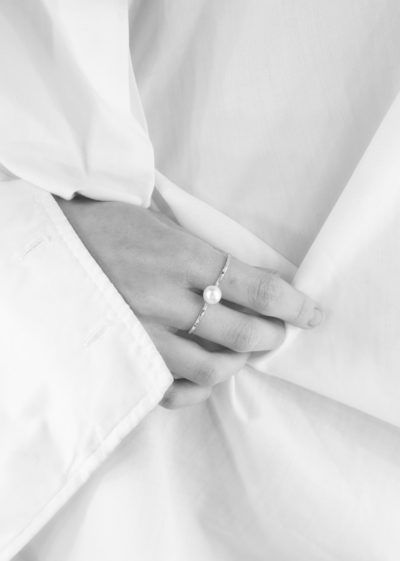 Double Akoya pearl ring by Sophie Bille Brahe