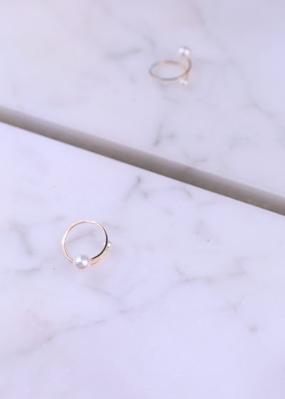 Akoya pearl ring by Sophie Bille Brahe