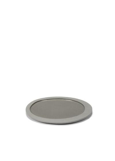 Asymmetrical plate S in light grey by Maarten Baas for valerie_objects