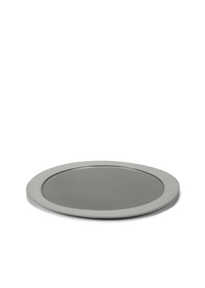 Asymmetrical plate M in light grey by Maarten Baas for valerie_objects
