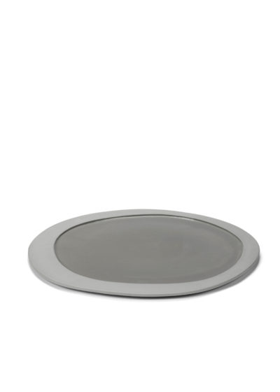 Asymmetrical plate L (available in two colours) by Maarten Baas for valerie_objects