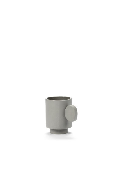 Asymmetrical espresso cup (available in two colours) by Maarten Baas for valerie_objects