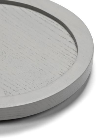 Asymmetrical tray S in light grey by Maarten Baas for valerie_objects