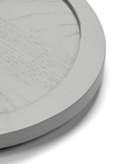 Asymmetrical tray M in light grey by Maarten Baas for valerie_objects