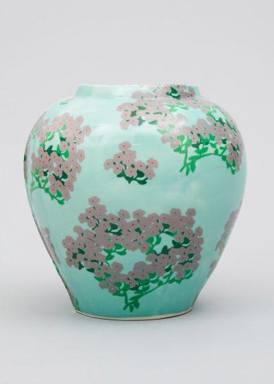 Large ceramic vase by Bernadette