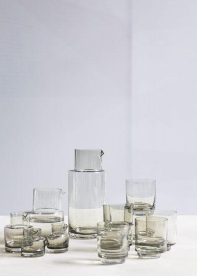Asymmetrical water tumbler by Maarten Baas for valerie_objects
