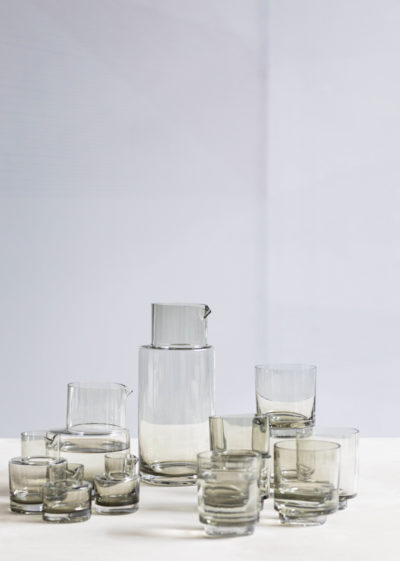 Asymmetrical water tumbler by Maarten Baas for valerie_objects