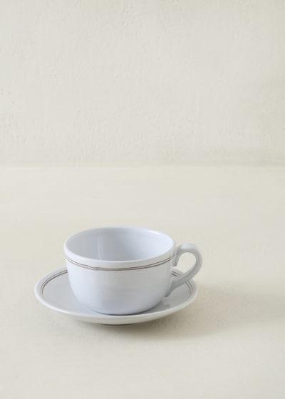 Tea cup and saucer set by Vincenzo Del Monaco x Graanmarkt 13